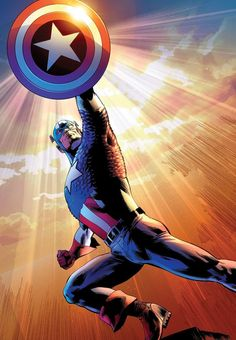 ✭ Captain America by Bryan Hitch