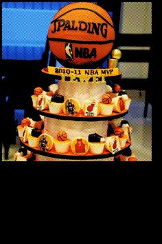 cheap for discount e7c25 877f6 Basketball Cupcake Tower, Clippers instead of the Heats.