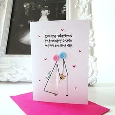 'button big day' wedding congratulations card by mrs l cards | notonthehighstreet.com by roberta