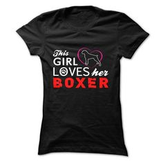 THIS GIRL LOVES HER BOXER T Shirts, Hoodies, Sweatshirts. CHECK PRICE ==► https://www.sunfrog.com/Pets/THIS-GIRL-LOVES-HER-BOXER-4a59.html?41382