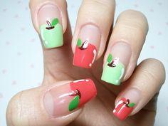 cute apple nail art