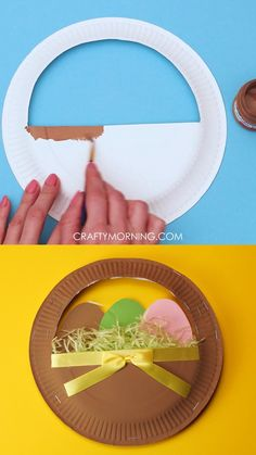 Easter Activities For Kids, Easter Crafts For Kids, Easter Baskets To Make, Paper Plate Crafts For Kids, Holiday Crafts For Kids, Crafts For Kids To Make, Activities To Do, Paper Easter Crafts, Basket Crafts
