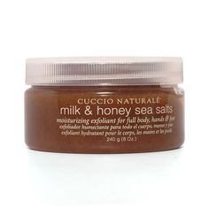 Cuccio Milk & Honey Sea Salts, 8 oz by Cuccio. $6.80. CUCCIO NATURALE MILK & HONEY SEA SALTS 8.oz. MOISTURIZING EXFOLIANT FOR FULL BODY, HANDS & FEET. MOISTURIZING EXFOLIANT FOR FULL BODY, HANDS & FEET. Save 55% Off!