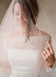 Ivory Bridal Veil | photography by http://www.odalysmendezphotography.com/