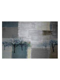 Blue Trees by Parvez Taj (Aluminum)