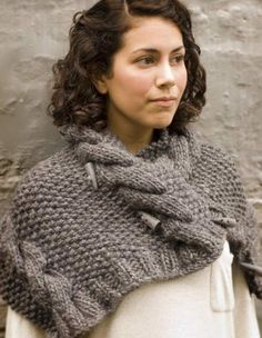 Free Knitting Pattern - Cowls and Neck Warmers: Burly Spun Grey Owl Cowl