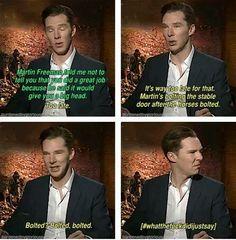 Benedict Cumberbatch vs. The English Language. Sometimes Smarty McSmartypants fail too.