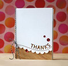 SSS Thanks Scallop border die   Card by Laura Bassen   Wish List #10