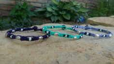 Check out this item in my Etsy shop https://www.etsy.com/listing/237881452/girls-stackable-anklets-hemp-anklets