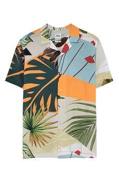 Bowling Shirts, Zara Man, Summer Shirts, Manga, Fashion Prints, Shirt Outfit, Workout Shirts, Printed Shirts, Colors