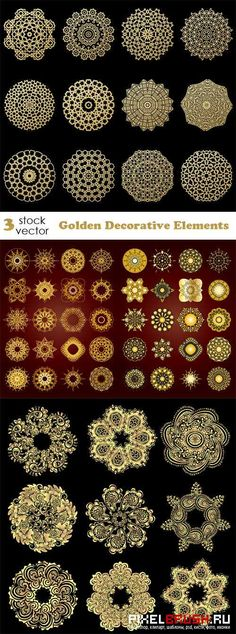 Vectors - Golden Decorative Elements
