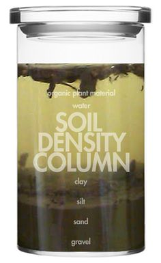 How much sand, silt, clay, and plant material is in your soil? Find out by making a Soil Density Column from the dirt in your backyard!
