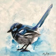 """""""All A Twitcher - Original oil - Framed"""" by Mia Laing. Paintings for Sale. Bluethumb - Online Art Gallery The Strawberry Thief, Buy Art Online, Australian Artists, Nature Animals, Paintings For Sale, Artist Art, Online Art Gallery, Great Artists, Collaboration"""