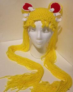 Sailor Moon Crochet wig by Miku-Marmalade