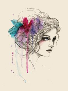 Water Flowers | Sabrina Eras  #illustration