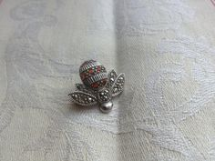 Sterling Silver Bee Brooch Pin 925 Hallmark by JansVintageStuff