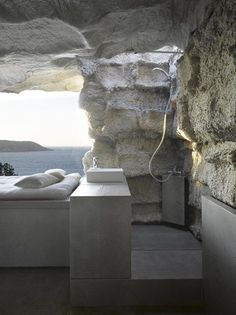 The Cave House in Costa da Morte, Galicia, Spain - This stone house is probably one of the coolest modern homes we've come across. This holiday house is ideally located in Spain and designed by Spanish architect Anton Garcia-Abril of Ensamble Studio Stone House Plans, Architecture Design, House Built, Stone Houses, Deco Design, My Dream Home, Dream Big, Elle Decor, Interior And Exterior