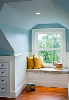 Phenomenal Attic remodel with dormers,Attic bedroom with slanted walls and Attic bedroom twin beds. Decor, Home, Attic Reading Nook, Interior, House, Bedroom Decor, Window Seat, Attic Bedrooms, Remodel Bedroom