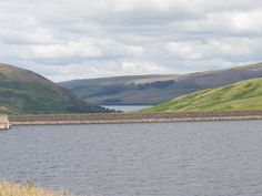 The unusual view of St Marys Loch at the top with the Megget Reservior at the bottom