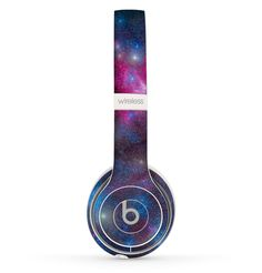 The Pink & Blue Galaxy Skin Set for the Beats by Dre Solo 2 Wireless Headphones