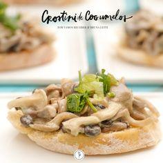 Deliciosa receita de Crostini de Cogumelos, elaborada pela chef Bruna Leite!