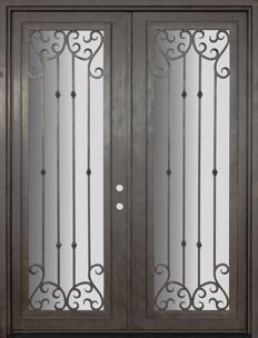 GlassCraft Door Company Buffalo Forge Steel - Valencia Double & GlassCraft Door Company Buffalo Forge WP 4 Lite Arch Top Double ... pezcame.com