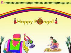 Bestt Wishes of Pongal Festival of Harvest CelebrationHappy Pongal Festival Season Pongal Wallpaper with Pongal Messages and Greetings Image...