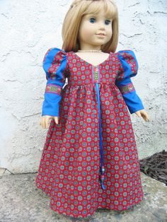 American Girl doll  Renaissance gown or by ExquisitelyUpcycled