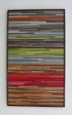 Abstract Painting on Wood Wood Wall Art от ModernRusticArt