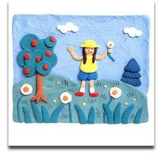 Plasticine Art - video and ideas by Barbara Reid 4th Grade Art, Grade 1, Kindergarten Art, Preschool Art, Spring Art, Summer Art, Drawing For Kids, Art For Kids, Rolled Paper Art