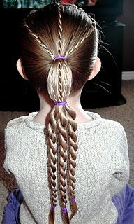 twist braid tiered ponytail