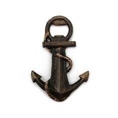 HomArt cast iron anchor bottle opener | Orange and Pear