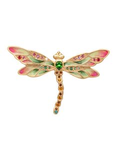 Candice Bejeweled Dragonfly Pin, MULTI COLORS - Jay Strongwater