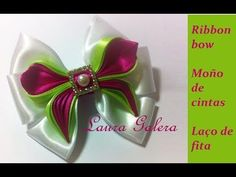 Ribbon bow Moño de Satén Arco de cetim - YouTube
