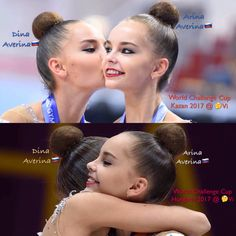 De twin sisters🇷🇺 Averina. Arina🇷🇺 won 🏆Gold in the all-around @ the World Challenge Cup 🇹🇯Budapest-Hungaria. Dina won Gold 🏆 in the all-around competion @ World Challenge Cup 🇷🇺Kazan-Russia.