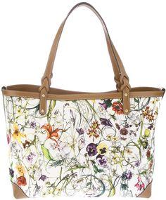 gucci Floral Tote Bag - Lyst... #DesignerBags... #LadiesStylish