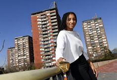 Nafi Thiam 1 dag na haar goud.  Foto: Nieuwsblad.be - belga.