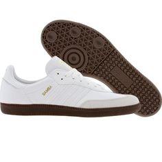 Adidas Samba (white / gum5) G17101 - $59.99 Adidas Samba White, Nice, Sneakers, Shoes, Style, Fashion, Tennis, Swag, Moda