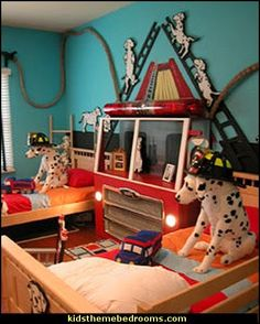 Dalmatian Theme Bedrooms Fire Truck Transportation
