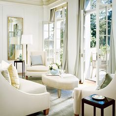 french doors + cream decor