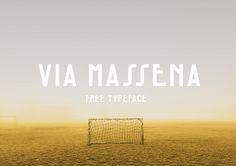 Via Massena - FREE Typeface on Behance