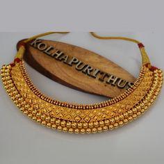 Kolhapuri Mahalaxmi Vajratik X Peti Design - Rishabh Gold Gold Earrings Designs, Gold Jewellery Design, Necklace Designs, Gold Jewelry, Jewellery Diy, India Jewelry, Temple Jewellery, Gold Bangles, Jewelry Sets
