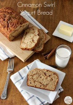 Cinnamon Swirl Yogurt Quick Bread Recipe l www.a-kitchen-addiction.com