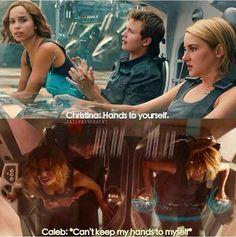 Lol I'm silently laughing inside my head Divergent Memes, Divergent Hunger Games, Divergent Fandom, Divergent Trilogy, Divergent Insurgent Allegiant, Insurgent Quotes, Tfios, Tris E Quatro, Allegiant