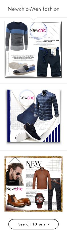 """Newchic-Men fashion"" by pavicmartina ❤ liked on Polyvore featuring F, men's fashion, menswear, Anja and ADAM"