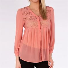 Blu Pepper Juniors Woven Top with Lace Yoke #Pinkhangerboutique