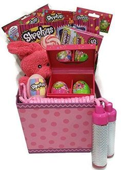 SHOPKINS EASTER BASKET Jewelry Box Activity Books Candy Jump Rope and More FUN  #ShopkinsTrollsGiftBasket