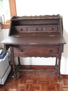 Escrivaninha Antiga De Embuia