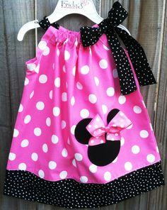 Minnie Mouse pillow case dress!