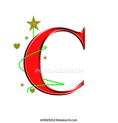 capital letter C for Christmas